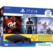 Игровая приставка Sony PlayStation 4 Slim 500GB Horizon ZD + Uncharted 4 + GT Sport