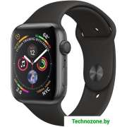 Часы Apple Watch 44mm Aluminum Case with Black Sport Band (MU6D2)